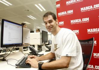 Calder�n, en una visita a MARCA.com