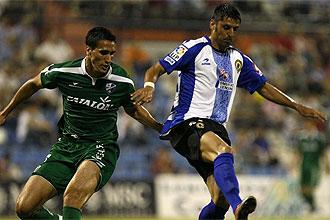El argentino Mustafa durante un partido con el Huesca