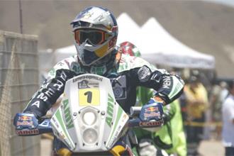 Marc Coma en una etapa del presente Dakar.