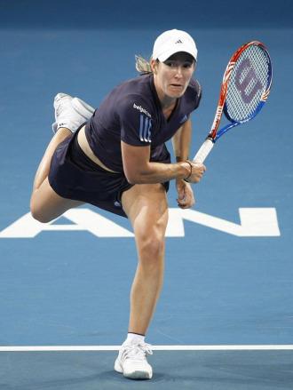 Justine Henin, en el choque ante Karatantcheva.