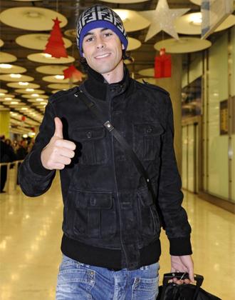Tiago a su llegada a Barajas.