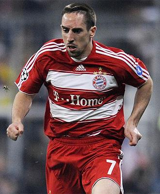 Ribery, durante un partido del Bayern, en una imagen de archivo