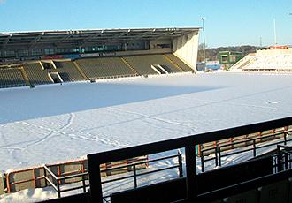 Este es el aspecto que presentaba Kingston Park, el estadio de rugby del Newcastle, este viernes