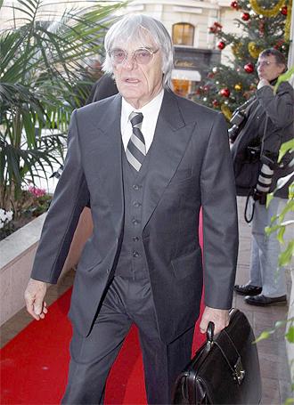 Bernie Ecclestone, patr�n de la F�rmula 1.