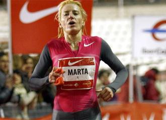Marta Dom�nguez, en la pasada edici�n de la San Silvestre Vallecana.