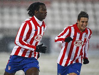 Ibrahim celebra su gol ante el Castilla