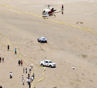 Carlos Sainz, durante la etapa entre Antofagasta y Copiapo