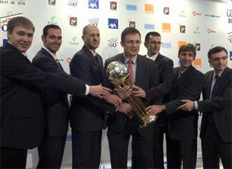 Imagen del sorteo de Copa celebrado en Bilbao.