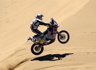 Marc Coma, durante la etapa del Rally Dakar
