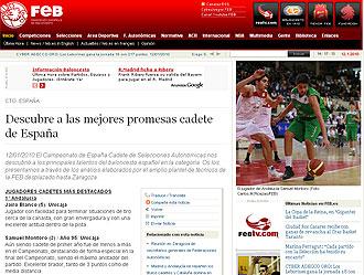 Reportaje de los mejores cadetes en FEB.es