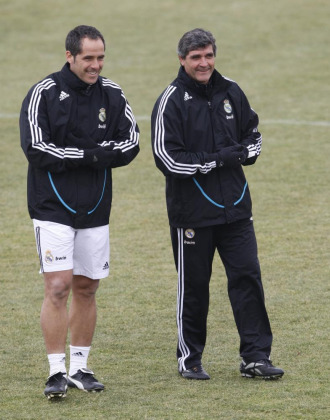 Marcos �lvarez junto a Juande Ramos cuando �ste dirig�a al Real Madrid.