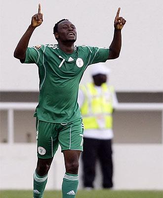 Chinedu Obasi marc� el tanto nigeriano y fue la gran sensaci�n del partido