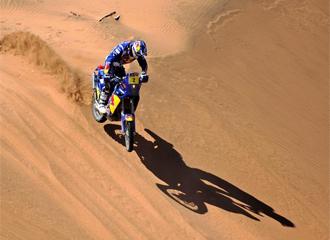 Coma, durante una etapa del Rally Dakar
