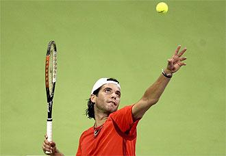 El tenista espa�ol Albert Monta��s