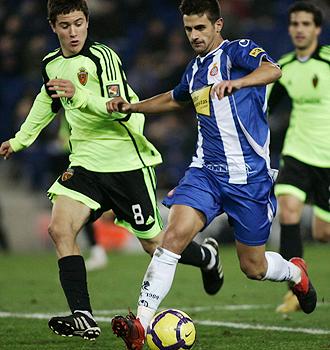 Javi M�rquez, durante el partido ante el Zaragoza.