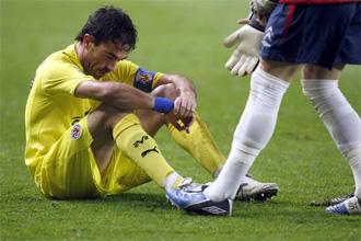 Javi Venta, cabizbajo durante el partido de Copa contra el Celta.