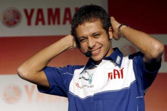 El campe�n italiano Valentino Rossi