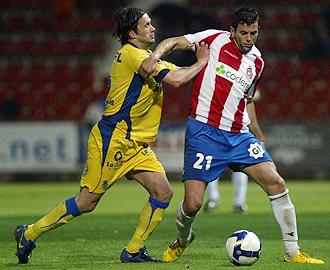 Paco Esteban, en un encuentro con el Girona la pasada temporada.