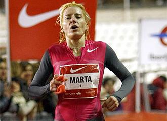Marta Dom�nguez, en una prueba