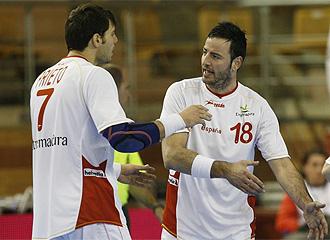 Prieto y Romero, durante un partido
