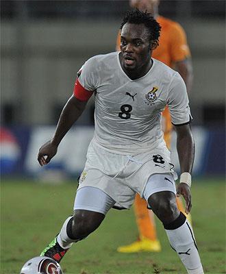 Essien, en el partido frente a Costa de Marfil.
