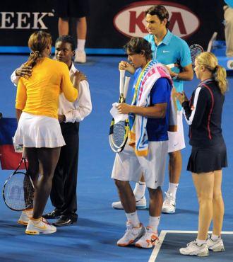 Rafa Nadal o Roger Federer, entre los participantes en el partido ben�fico.