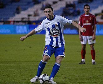 Sergio durante un lance del encuentro de Copa frente al Real Murcia