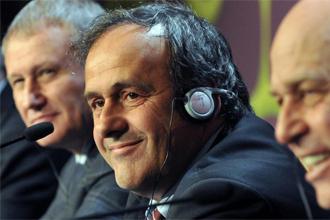 Platini, en una rueda de prensa.