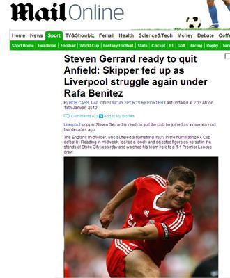 Web del diario brit�nico 'Daily Mail'.