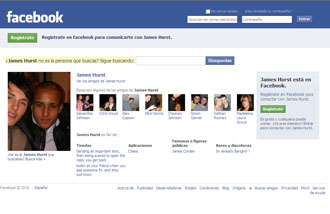 Perfil de Facebook de James Hurst