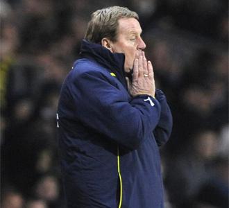 Harry Redknapp, durante un encuentro de esta temporada con el Tottenham