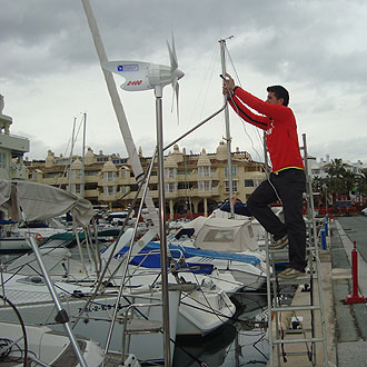 Contreras prepara el barco para el d�a de la salida