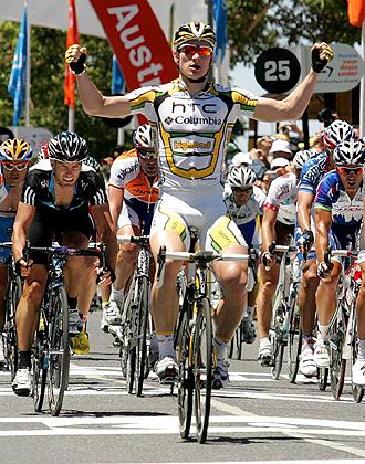 El alemán Andre Greipel volvió a repetir victoria en la segunda de la etapa de la Tour Down Under, como ya hizo en la primera