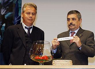 López Ufarte, en el último sorteo de Copa.