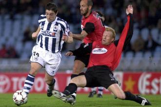 Lussenhoff, durante su etapa como jugador el Mallorca en un encuentro ante la Real Sociedad.
