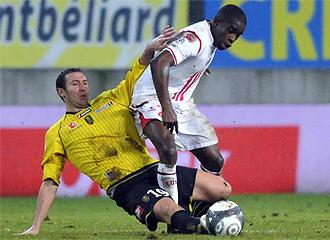 Lance del partido entre el Lille y el Sochaux