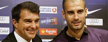 Laporta y Guardiola