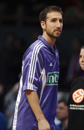 Pepe S�nchez, en un encuentro de Euroliga con el Madrid.