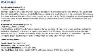 Durant y Nowitzki son los 'elegidos' por la NBA.