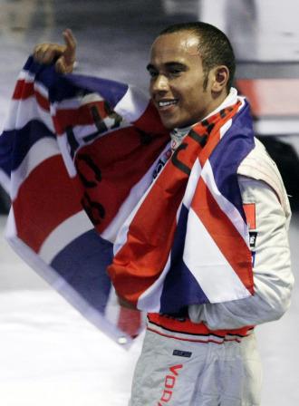 El campe�n ingl�s Lewis Hamilton