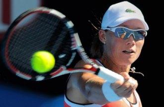 Samantha Stosur durante un partido en Australia.