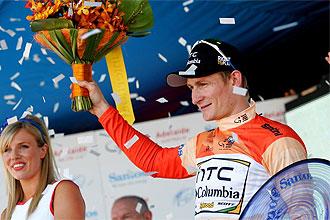 Andre Greipel, tras ganar el Tour Down Under