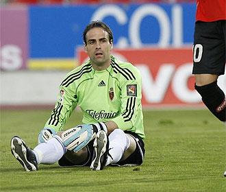 López Vallejo, en un partido con el Zaragoza.