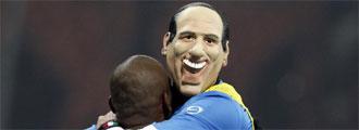 Materazzi, con la careta de Berlusconi