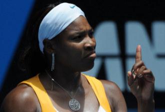 Serena Williams durante su choque ante Carla Su�rez en Australia.