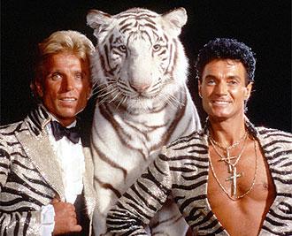 Los domadores Siegfried y Roy.