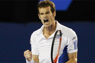 Murray celebra su victoria ante Nadal.