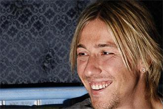 Guti sonr�e en un momento de la entrevista
