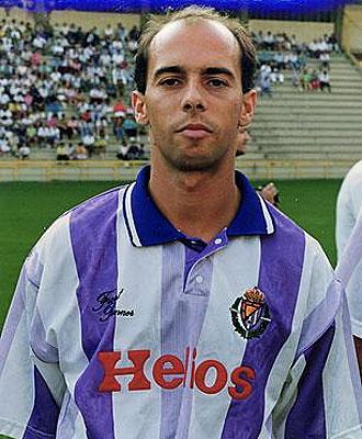 Pachi, en las filas del Valladolid en 1991
