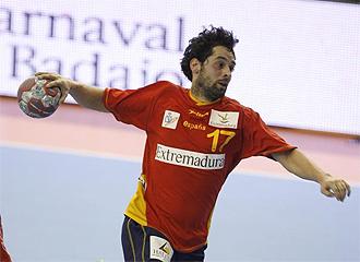 Juan�n, en un partido con Espa�a